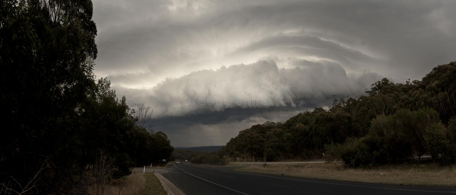 The storm at outback of New South Wales. Australia stock images