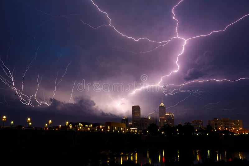 Storm over city royalty free stock photography