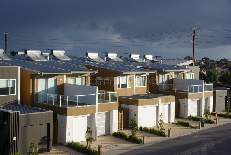 Download Storm Over Eco Apartments stock photo. Image of flats - 6092838