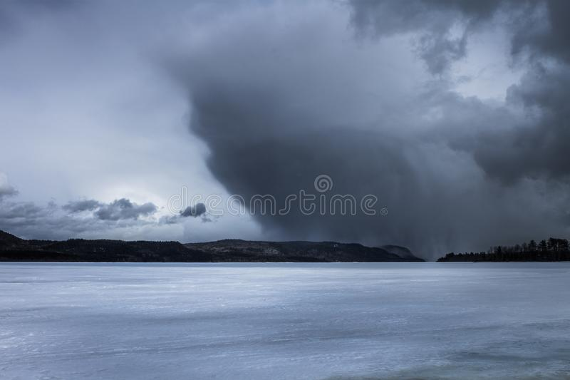 Storm over the mountains stock photography