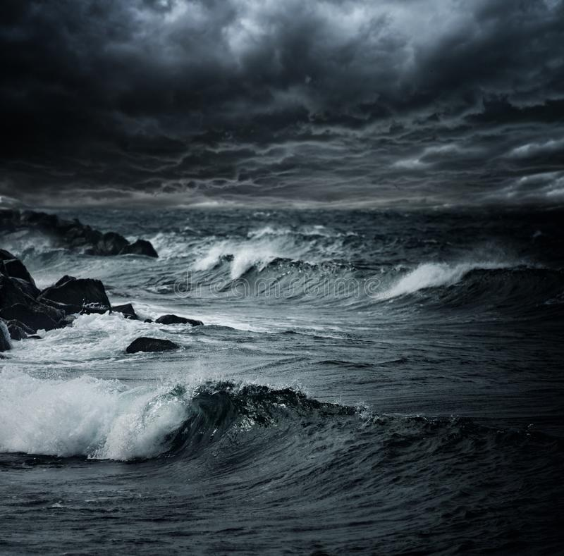 Storm over ocean royalty free stock image