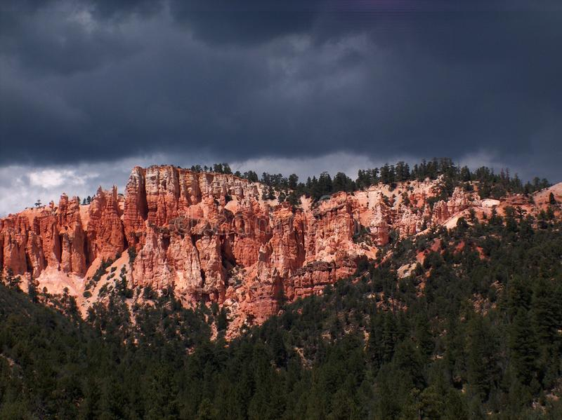 Storm Over Red Cliffs Stock Photography