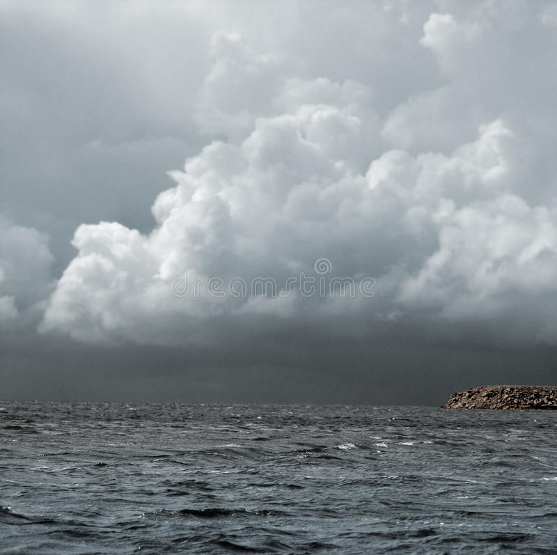 Download Storm Over The Sea Royalty Free Stock Image - Image: 10318316