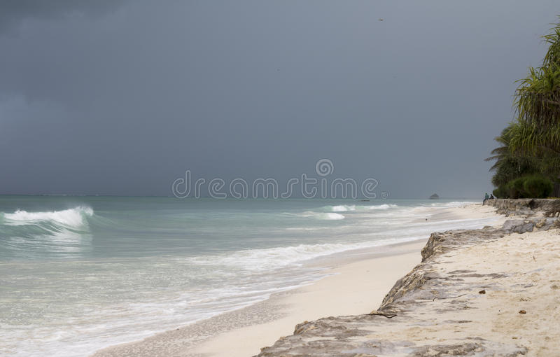 Storm in Paradise royalty free stock image
