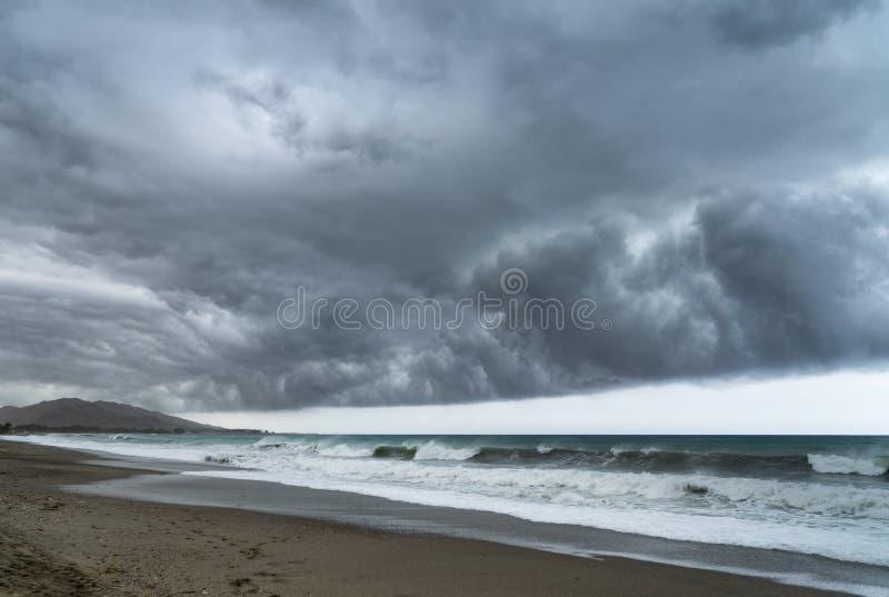 storm Plage de Vera photographie stock