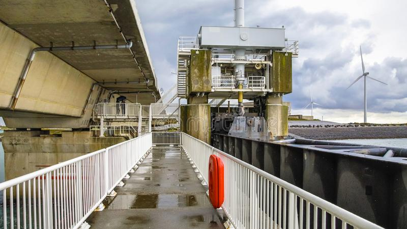 Storm protection Delta works Netherlands stock photography