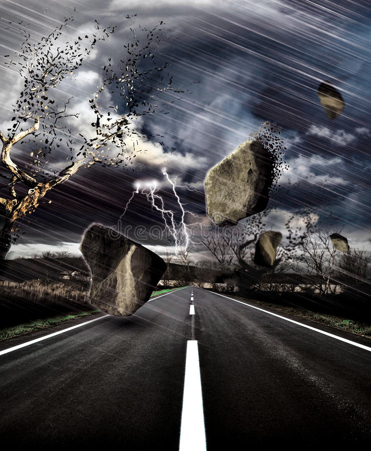 Download Storm on the road stock photo. Image of spectacular, light - 9453674