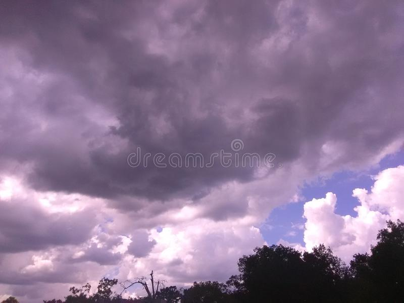 Storm rolling in stock image
