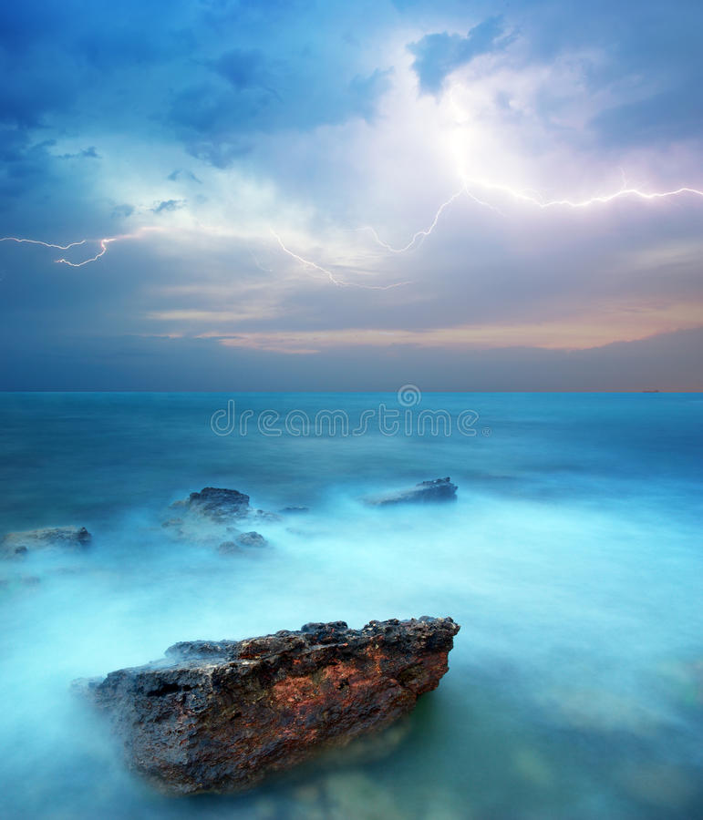 Storm in sea royalty free stock images