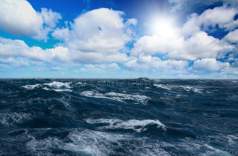 Storm sea royalty free stock photos