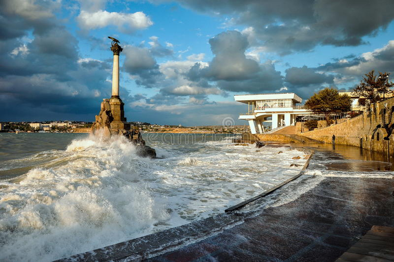 A storm at sea royalty free stock photography