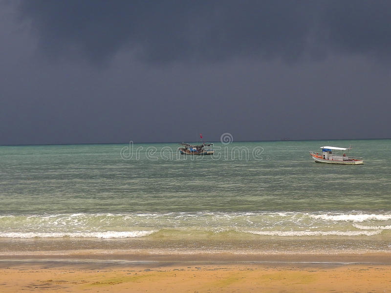 Storm at sea. A storm is coming at sea in Thailand royalty free stock images