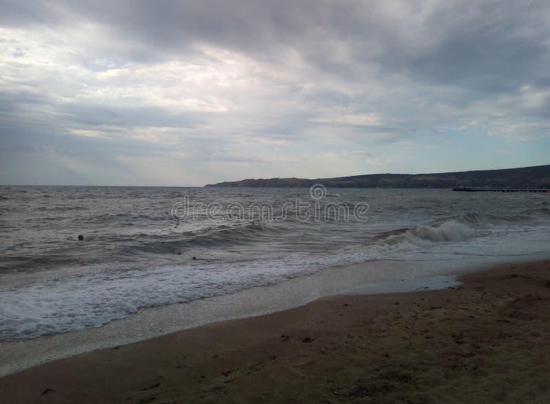 Storm sea. Sea, inclement weather, storm, black sea stock image