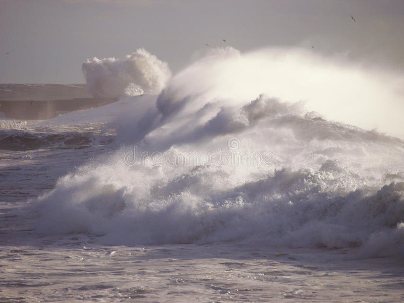 Storm at sea royalty free stock images