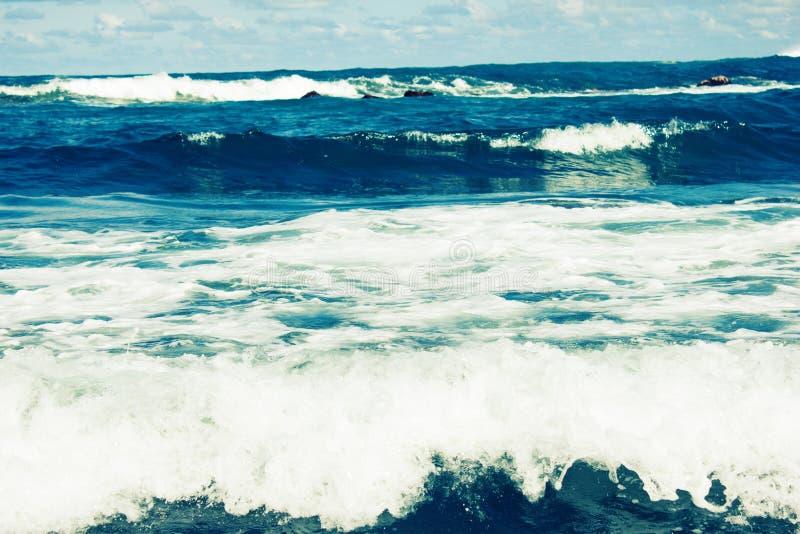 Storm sea waves royalty free stock image