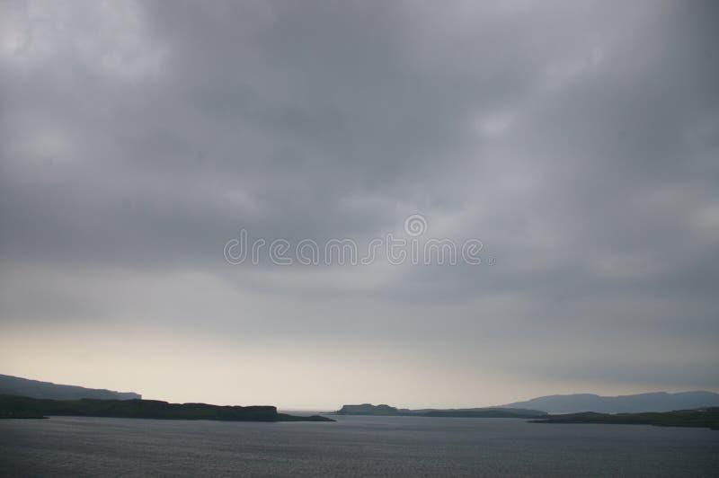 Storm on skye stock image