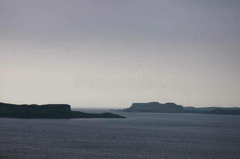 Storm on skye stock images