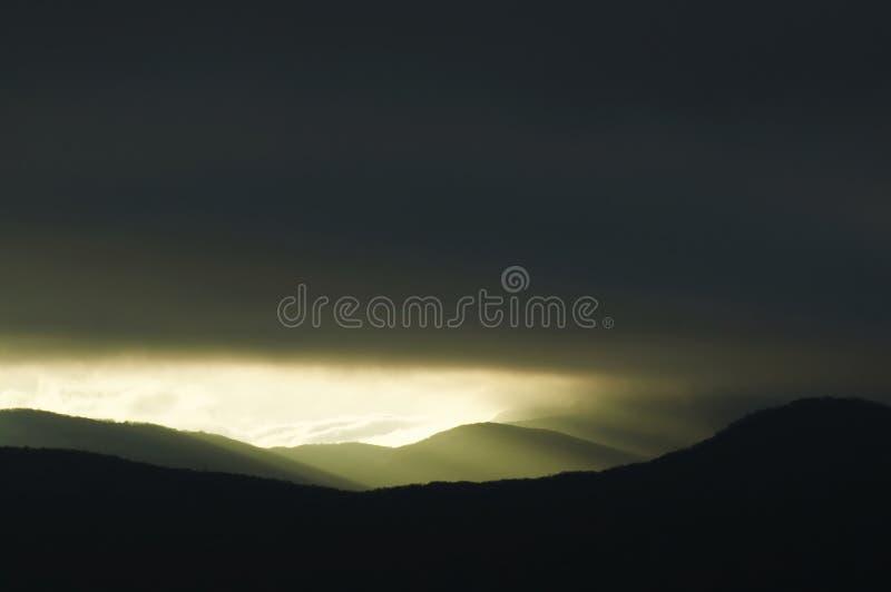 Storm sunset royalty free stock image