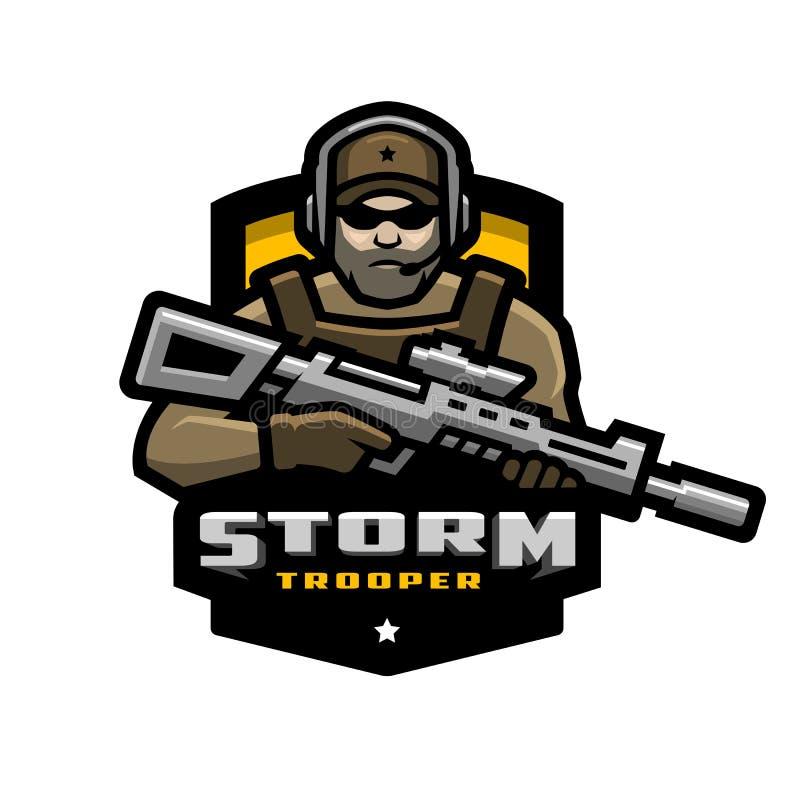 Storm trooper mascot, logo desing. Vector illustration. vector illustration