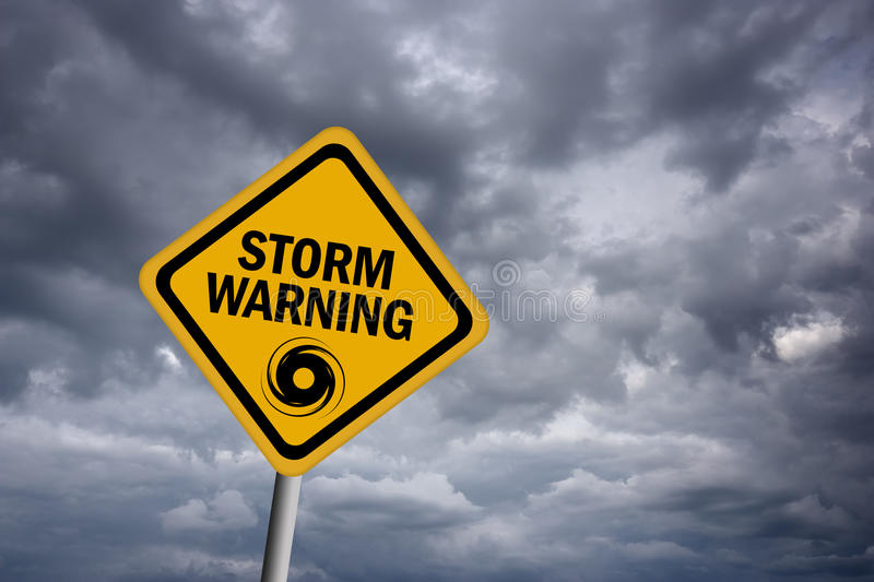 Storm warning sign royalty free illustration