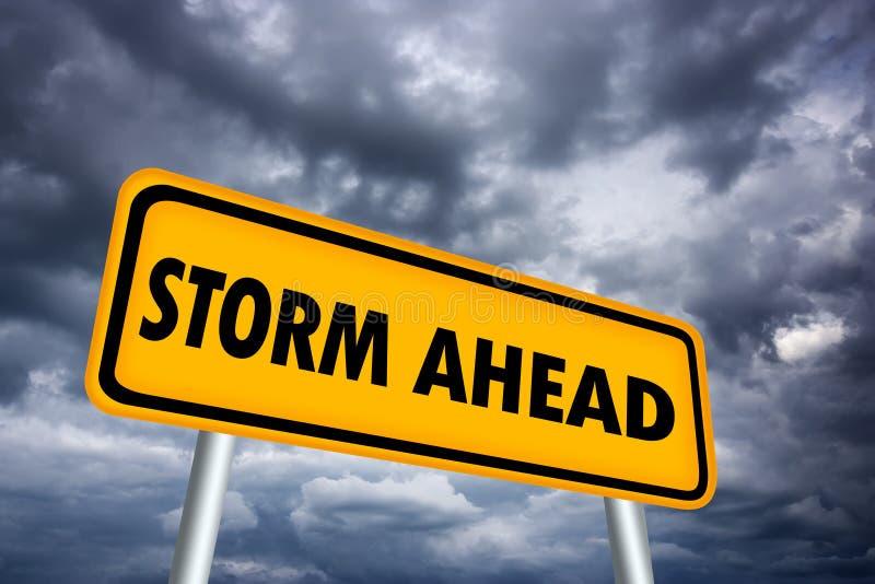 Storm warning sign stock illustration