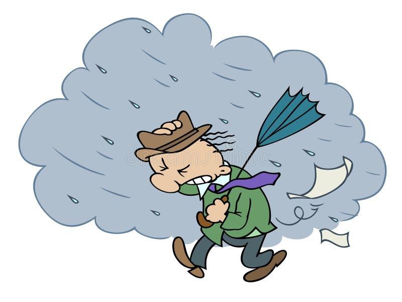 Stormachtige dag stock illustratie