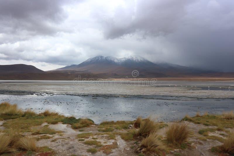 Stormachtige Dag bij de Atacama-Woestijn Bolivië royalty-vrije stock afbeelding