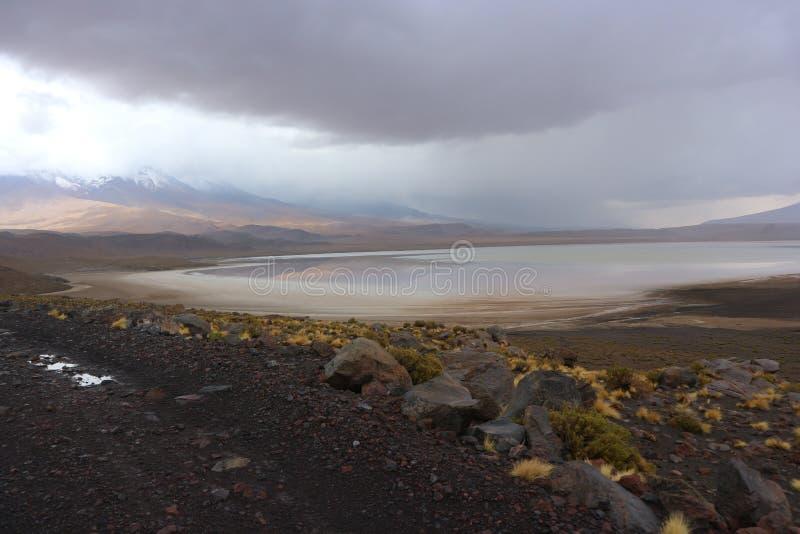 Stormachtige Dag bij de Atacama-Woestijn Bolivië royalty-vrije stock fotografie