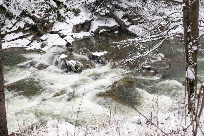 Stormachtige wateren van de rivier Prut royalty-vrije stock foto