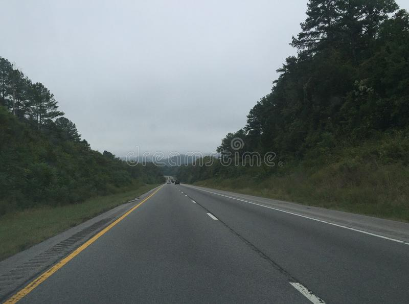 Stormachtige weg stock fotografie