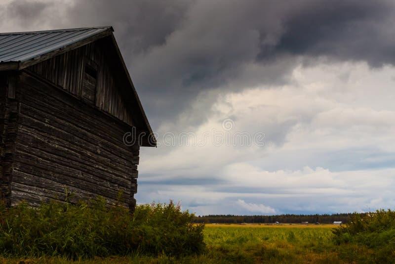 Stormachtige wolken stock foto's