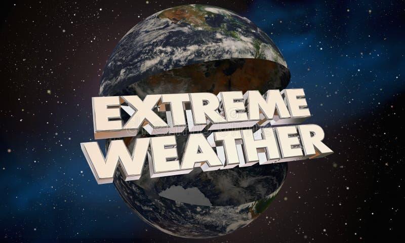 Stormar global klimatförändring för extremt väder illustrationen 3d royaltyfri illustrationer