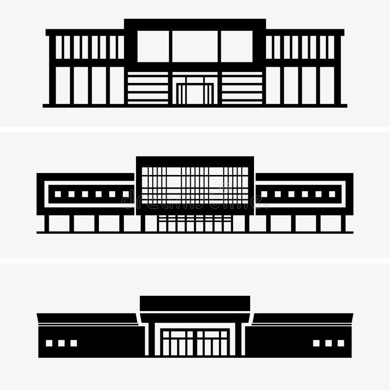 stormarknad vektor illustrationer
