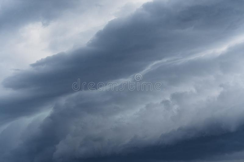 Stormclouds gathering on the sky. Photo of some Stormclouds gathering on the sky at evening stock photo