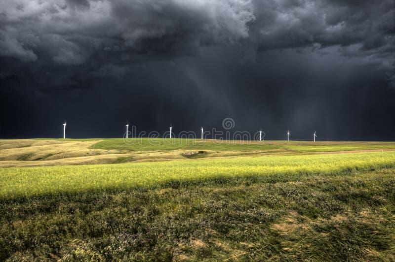 Stormen fördunklar Saskatchewan arkivfoto