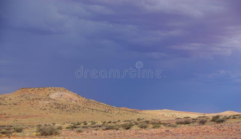 Stormig Simpson öken royaltyfri fotografi