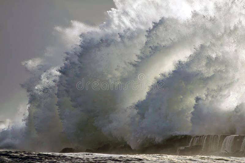 stormig wave arkivbild