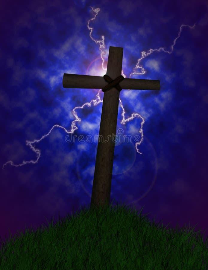 stormigt kors arkivfoton