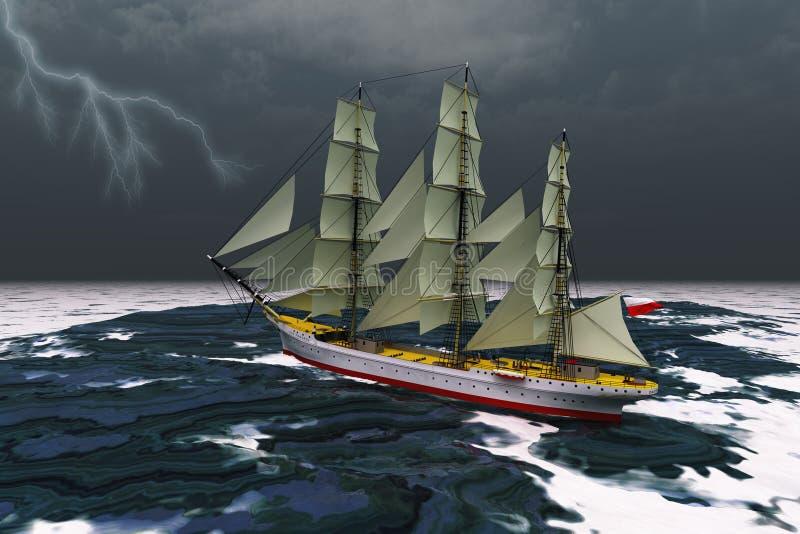 stormigt väder vektor illustrationer