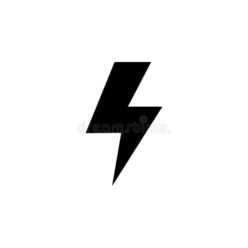 Stormljussymbol Beståndsdel av väderillustrationen Tecknet och symboler kan användas för rengöringsduken, logoen, den mobila appe vektor illustrationer