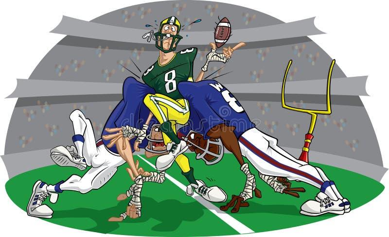 Stormloop in het Amerikaanse spel van de Voetbal #7 vector illustratie