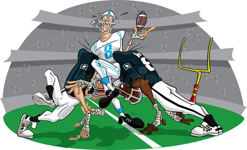 Stormloop in het Amerikaanse spel van de Voetbal #8 royalty-vrije illustratie