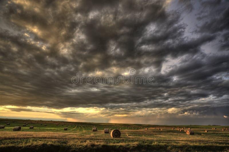 Stormmoln Saskatchewan royaltyfri foto