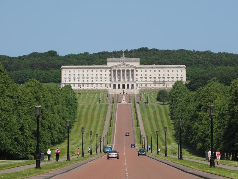Stormont parlamentbyggnader i Belfast arkivfoton