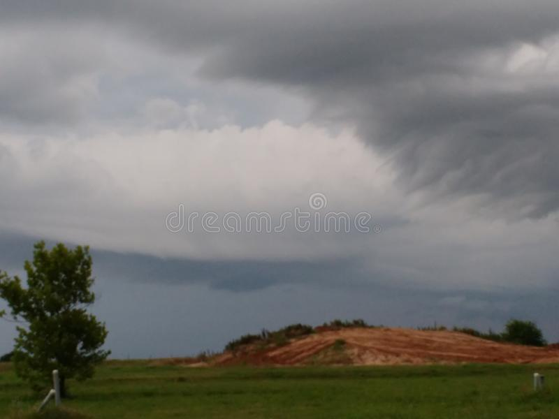 Storms brewing. Evening sky before storms stock photo