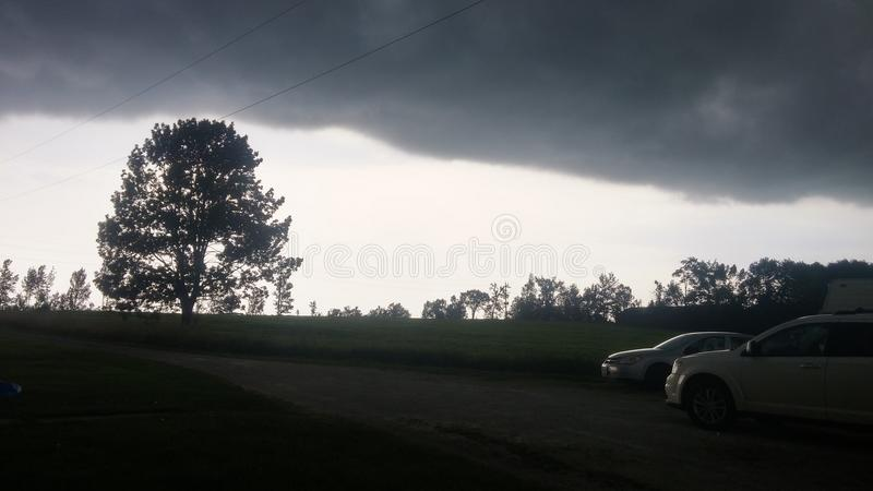 Storms A Coming. The storms we get in grey bruce county royalty free stock photography