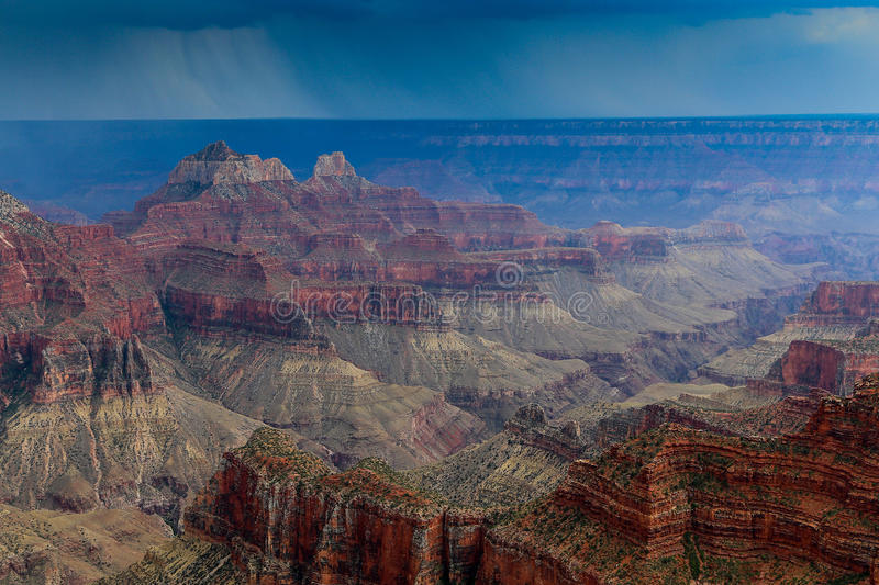 Storms on the Grand Canyon royalty free stock image