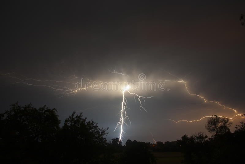 Storms and lightning royalty free stock images