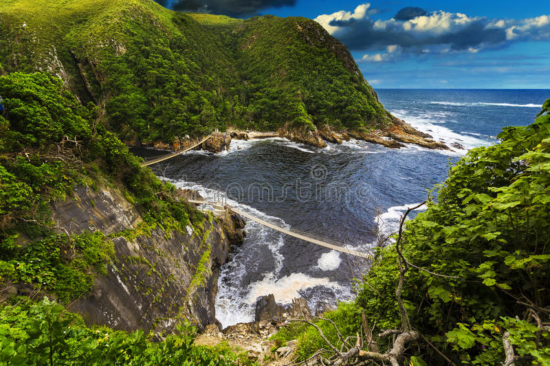 Storms River Mouth, Tsitsikamma National Park. Republic of South Africa. Eastern Cape province. Tsitsikamma National Park - Storms River Mouth stock photo
