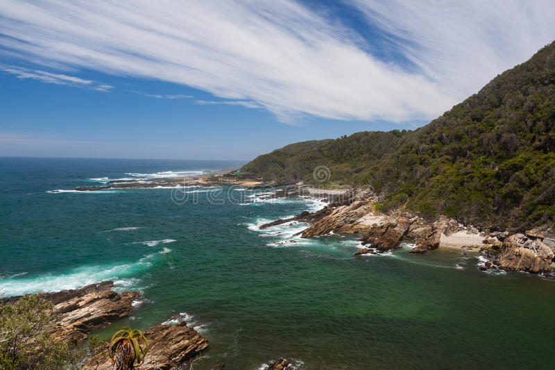 Storms River Mouth. In the Tsitsikamma NP stock image